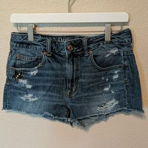 American Eagle distressed jeans shorts